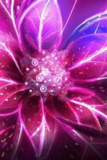 Flor abstrata, pétalas de rosa, luz