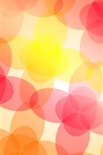 Preview iPhone wallpaper Abstract flowers, red pink yellow