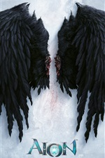 Preview iPhone wallpaper Aion, black wings