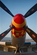 Preview iPhone wallpaper Airfield fighter propeller