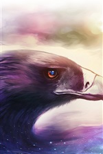Preview iPhone wallpaper Art drawing, bird, eagle