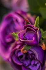 Preview iPhone wallpaper Artificial flowers, purple roses
