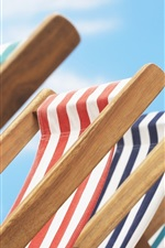 Preview iPhone wallpaper Beach chairs