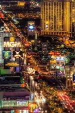 Preview iPhone wallpaper Beautiful Las Vegas city night, illumination, lights, USA
