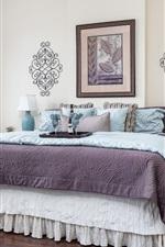 Preview iPhone wallpaper Bedroom, bed, wine, lamp