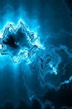 미리보기 iPhone 배경 화면 푸른 빛, 추상