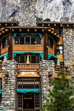 Preview iPhone wallpaper California, Ahwahnee Hotel, USA, Yosemite, rocks