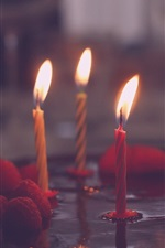 Preview iPhone wallpaper Candles, flame, fire, cake