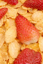 Preview iPhone wallpaper Cereal and strawberry