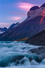 Preview iPhone wallpaper Chile, Patagonia, Paine River, mountains