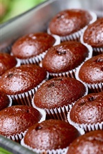 Preview iPhone wallpaper Chocolate cupcakes