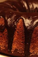 Bolo de frutas de chocolate