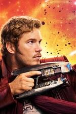 Preview iPhone wallpaper Chris Pratt, Guardians of the Galaxy Vol. 2