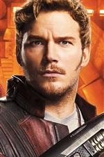 Preview iPhone wallpaper Chris Pratt, Zoe Saldana, Guardians of the Galaxy 2