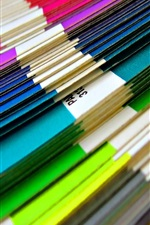 Preview iPhone wallpaper Colorful papers, stack