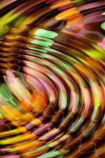 Colorful water surface circles, waves, abstract