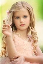 Curls cabelo, loira, menina criança, linda