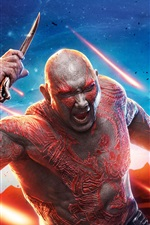 Preview iPhone wallpaper Dave Bautista, Guardians of the Galaxy Vol. 2