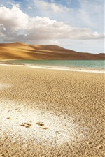 Preview iPhone wallpaper Desert, sand, lake