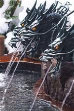 미리보기 iPhone 배경 화면 용 동상, 분수, 물
