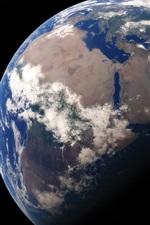 iPhone обои Земля, наш дом, планета, космос, черный фон