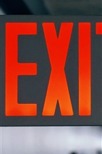 Preview iPhone wallpaper Exit sign