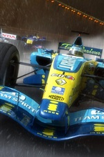 Preview iPhone wallpaper F1 race cars, speed, rain