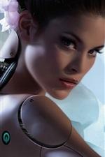 Preview iPhone wallpaper Fantasy girl, robot