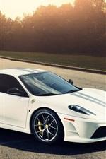 Preview iPhone wallpaper Ferrari 430 white car