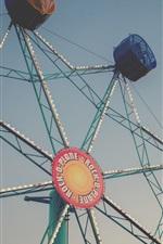Preview iPhone wallpaper Ferris wheel, sky