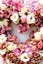 Preview iPhone wallpaper Flowers heart, hydrangea and rose