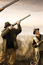 Preview iPhone wallpaper Funny picture, hunting duck