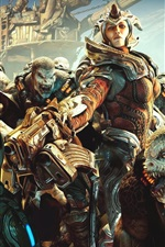 Preview iPhone wallpaper Gears of War, girl and monsters
