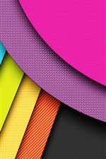 Preview iPhone wallpaper Geometry lines, colorful colors, abstraction