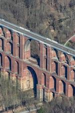 Preview iPhone wallpaper Germany, Saxony, road, bridge, trees