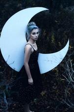 Vorschau des iPhone Hintergrundbilder Mädchen und Mond