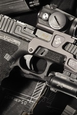 미리보기 iPhone 배경 화면 글록 17 자기 총, 무기