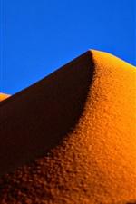 Preview iPhone wallpaper Gold sands, desert, hill