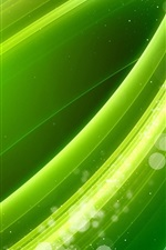 Preview iPhone wallpaper Green line wavy, abstract picture