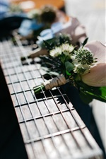 Preview iPhone wallpaper Guitar and flowers, music theme
