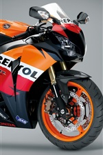 Preview iPhone wallpaper Honda motorcycle, gray background