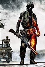Preview iPhone wallpaper Hot games, Battlefield: Bad Company 2
