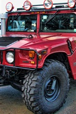 Preview iPhone wallpaper Hummer H1 Alpha red car