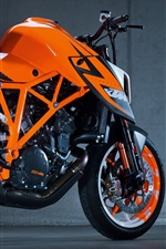 Preview iPhone wallpaper KTM motorcycle, orange