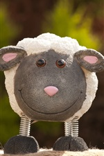 Preview iPhone wallpaper Lamb toy, smiley face