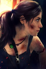 Preview iPhone wallpaper Lara Croft use knife, Tomb Raider games