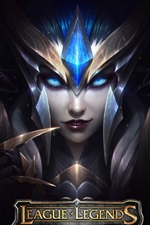 Preview iPhone wallpaper League of Legends, armor, girl