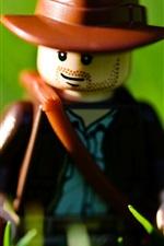Lego brinquedo, fundo verde