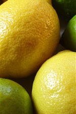 Preview iPhone wallpaper Lemon and lime, green and yellow