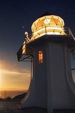 미리보기 iPhone 배경 화면 등대, 빛, 일몰, 바다